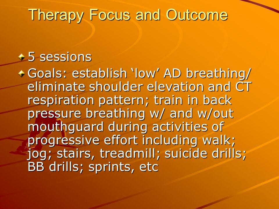Therapy Focus and Outcome