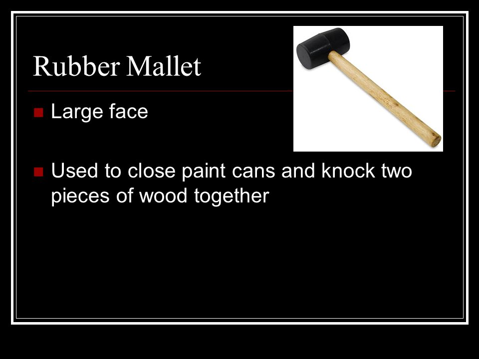 Rubber Mallet Large face