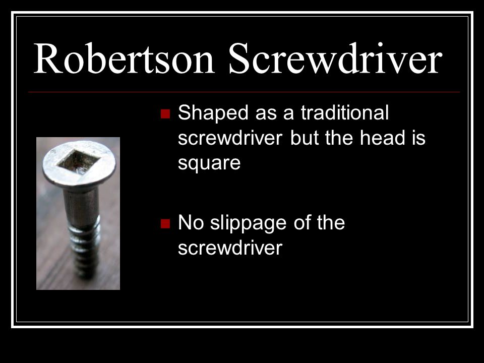 Robertson Screwdriver