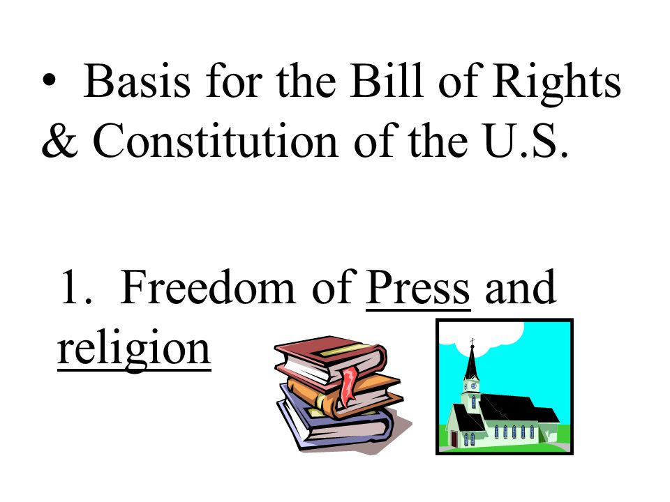 Basis for the Bill of Rights & Constitution of the U.S.