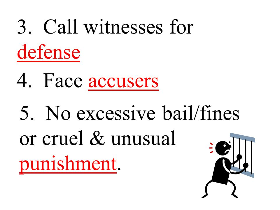 3. Call witnesses for defense