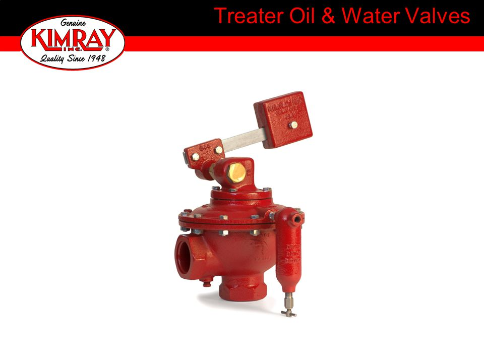 Treater Oil & Water Valves