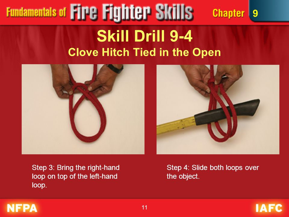 Skill Drill 9-4 Clove Hitch Tied in the Open