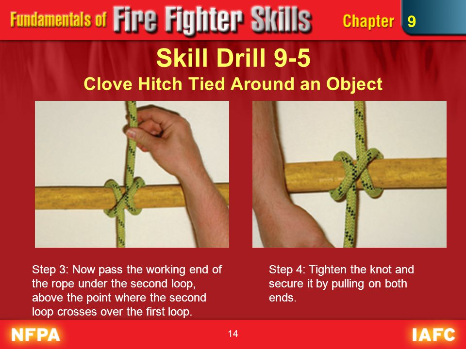 Skill Drill 9-5 Clove Hitch Tied Around an Object