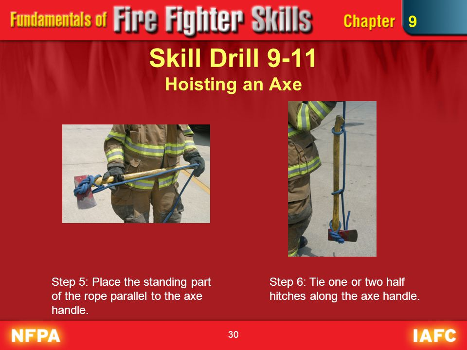 Skill Drill 9-11 Hoisting an Axe