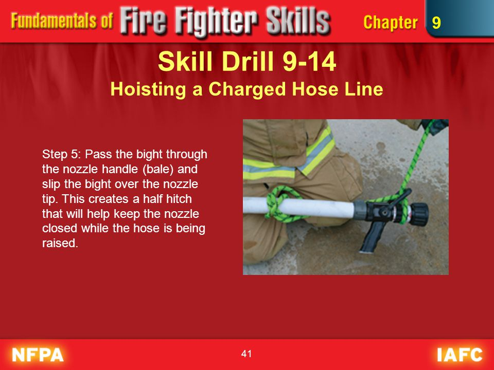 Skill Drill 9-14 Hoisting a Charged Hose Line