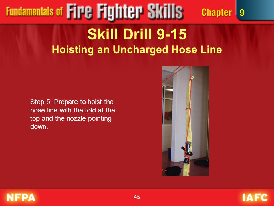 Skill Drill 9-15 Hoisting an Uncharged Hose Line
