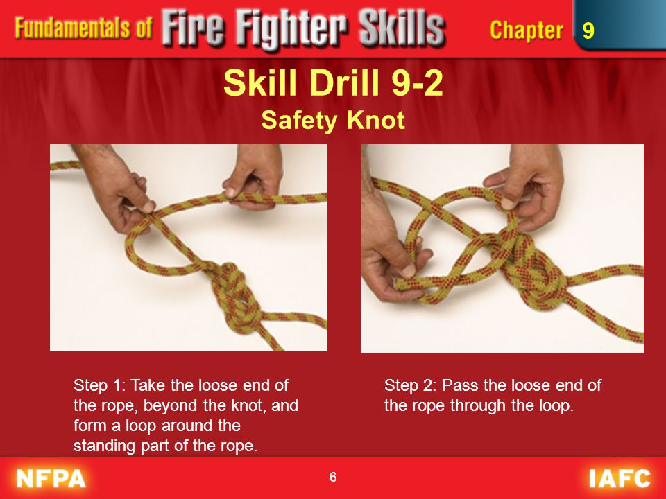 Skill Drill 9-2 Safety Knot