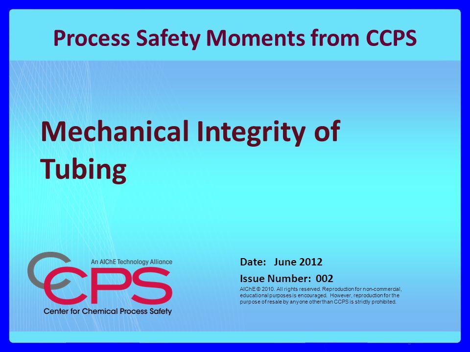 Mechanical Integrity of Tubing