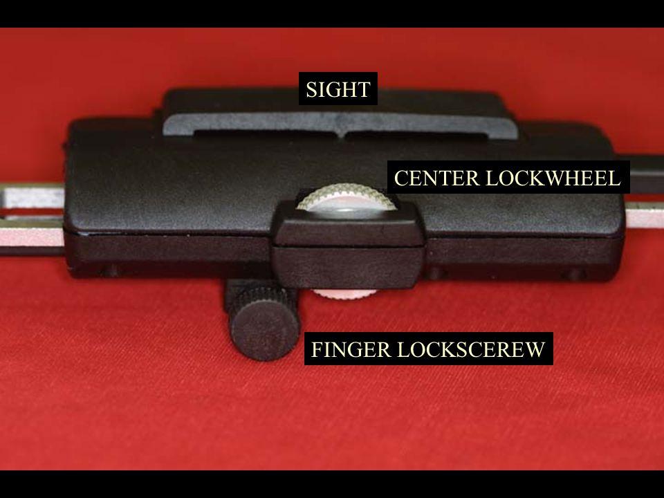 SIGHT CENTER LOCKWHEEL FINGER LOCKSCEREW