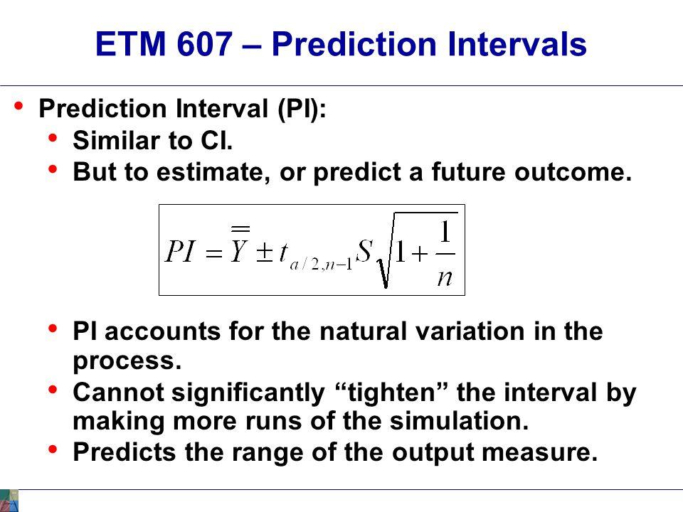 ETM 607 – Prediction Intervals