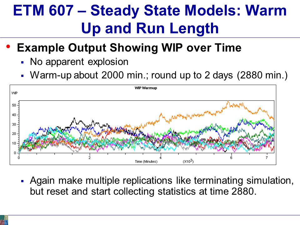 ETM 607 – Steady State Models: Warm Up and Run Length