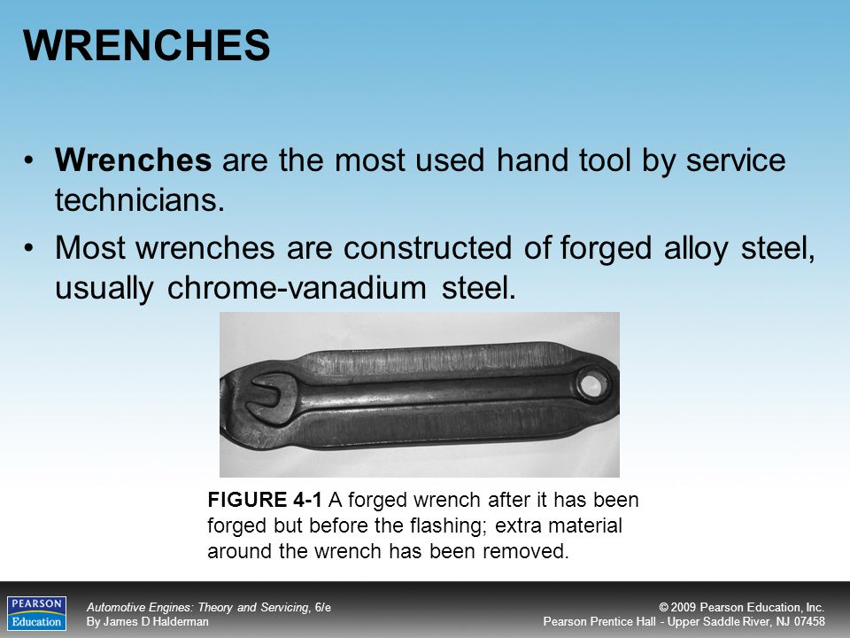 WRENCHES Wrenches are the most used hand tool by service technicians.