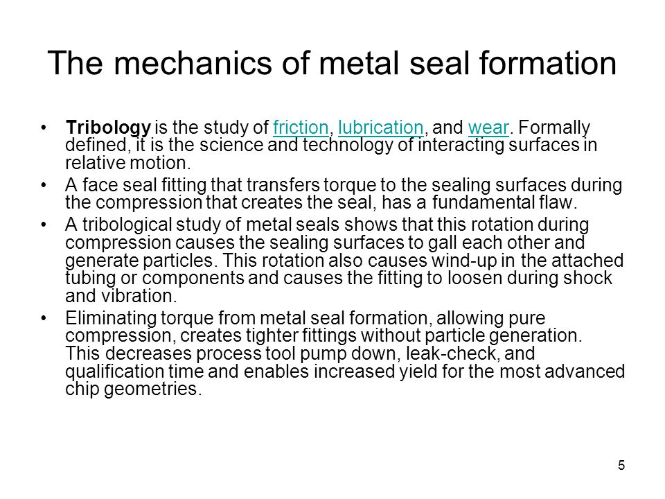 The mechanics of metal seal formation
