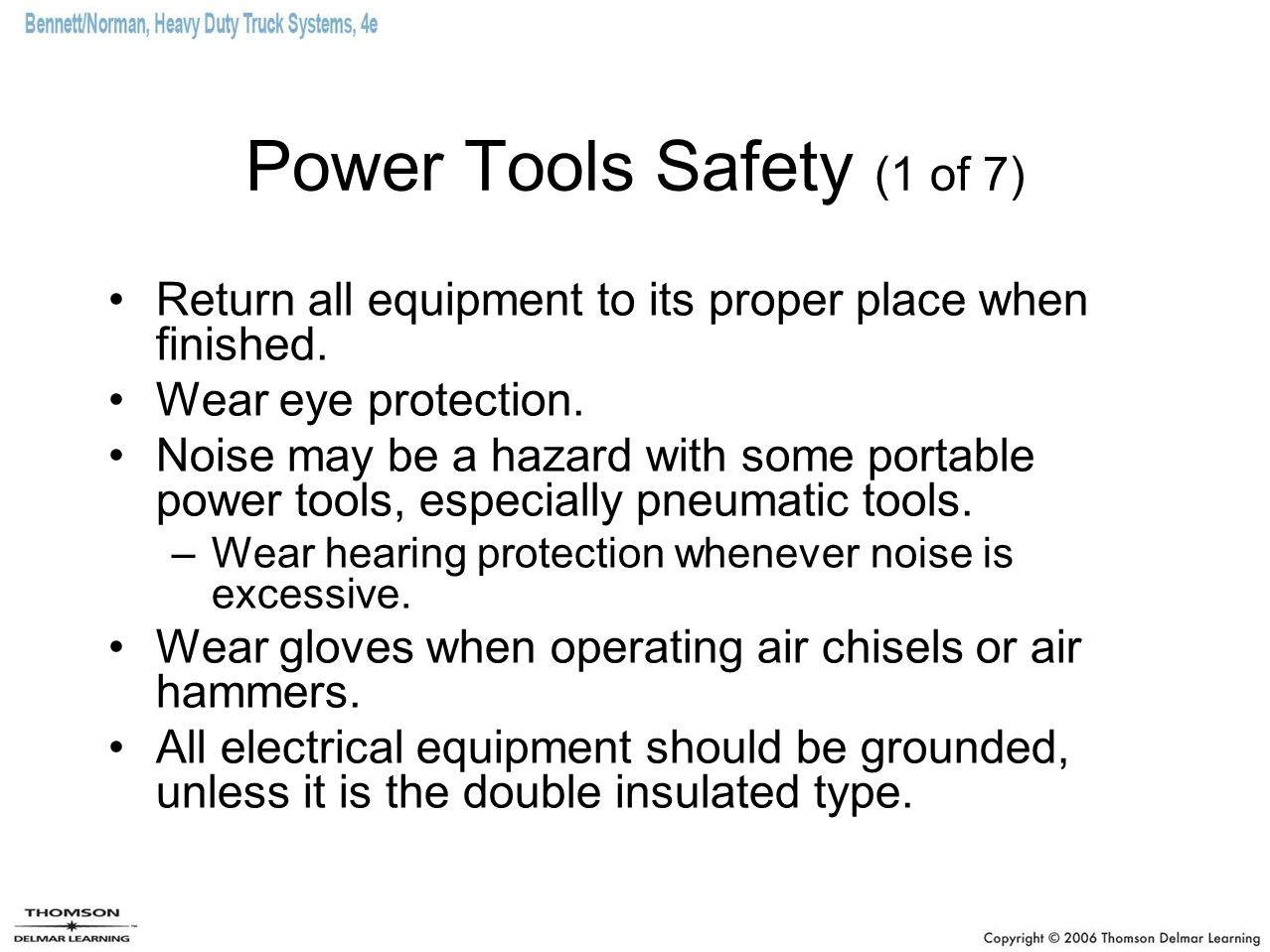 Power Tools Safety (1 of 7)