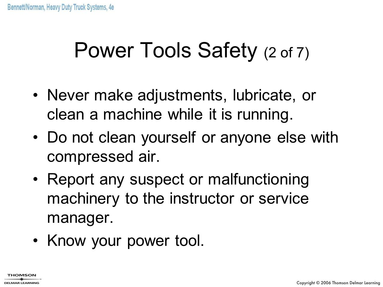 Power Tools Safety (2 of 7)