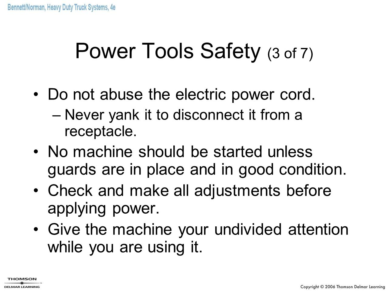Power Tools Safety (3 of 7)