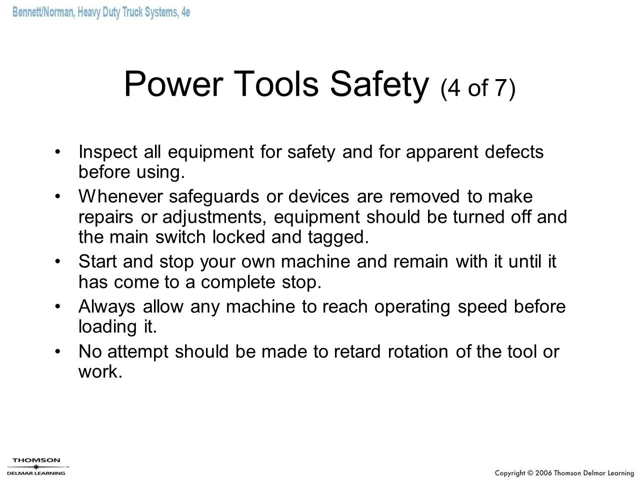Power Tools Safety (4 of 7)