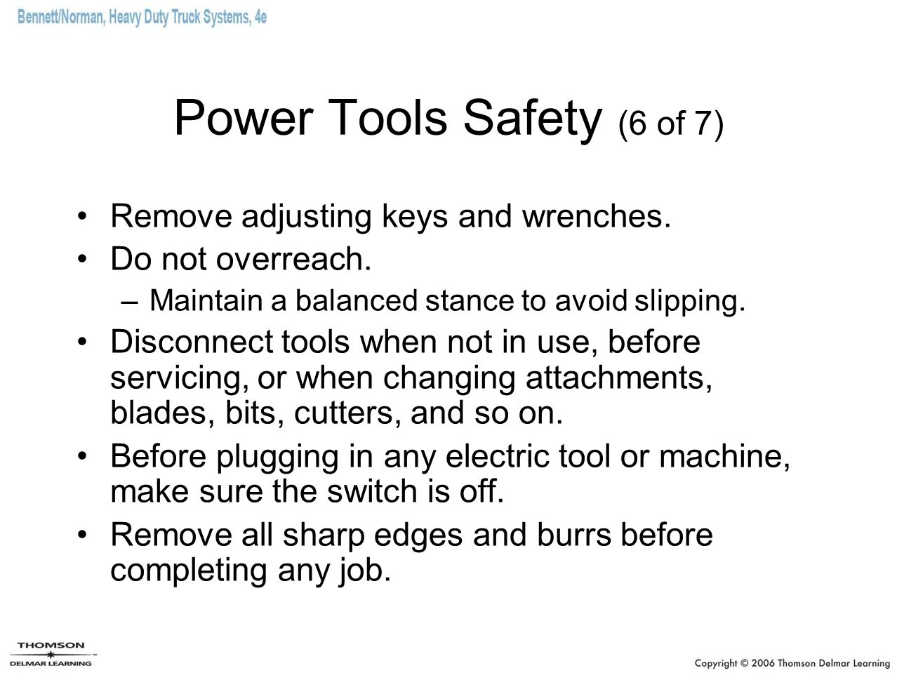 Power Tools Safety (6 of 7)