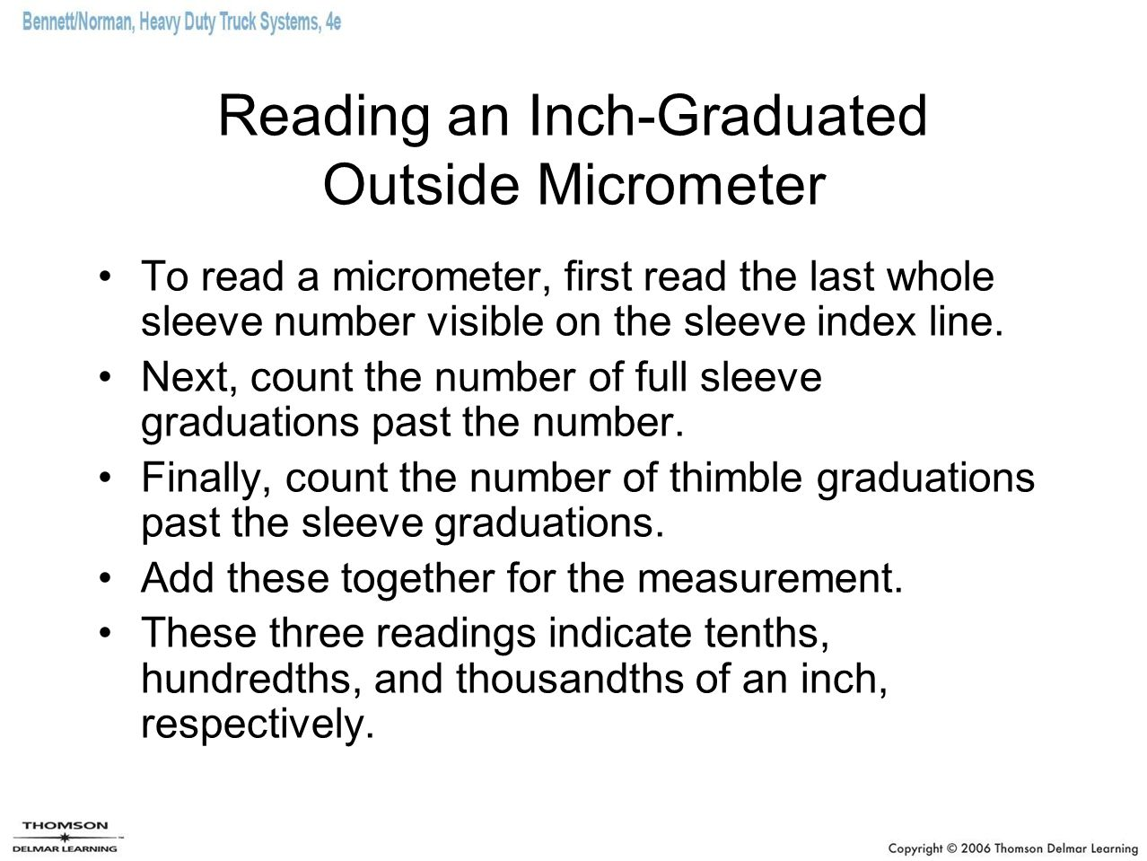 Reading an Inch-Graduated Outside Micrometer