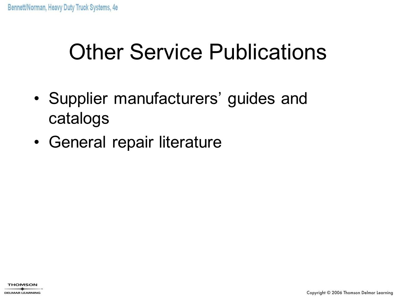 Other Service Publications