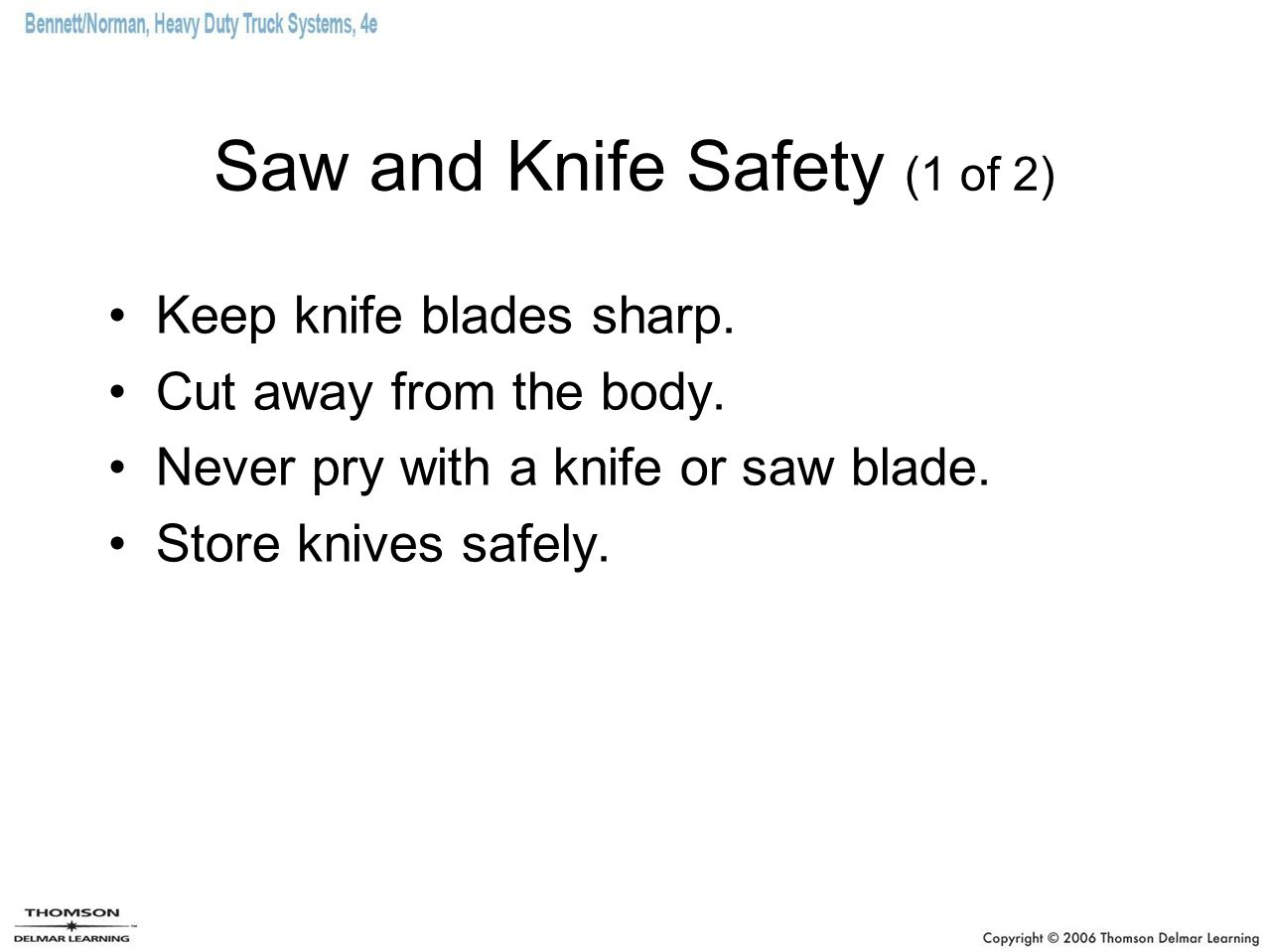 Saw and Knife Safety (1 of 2)
