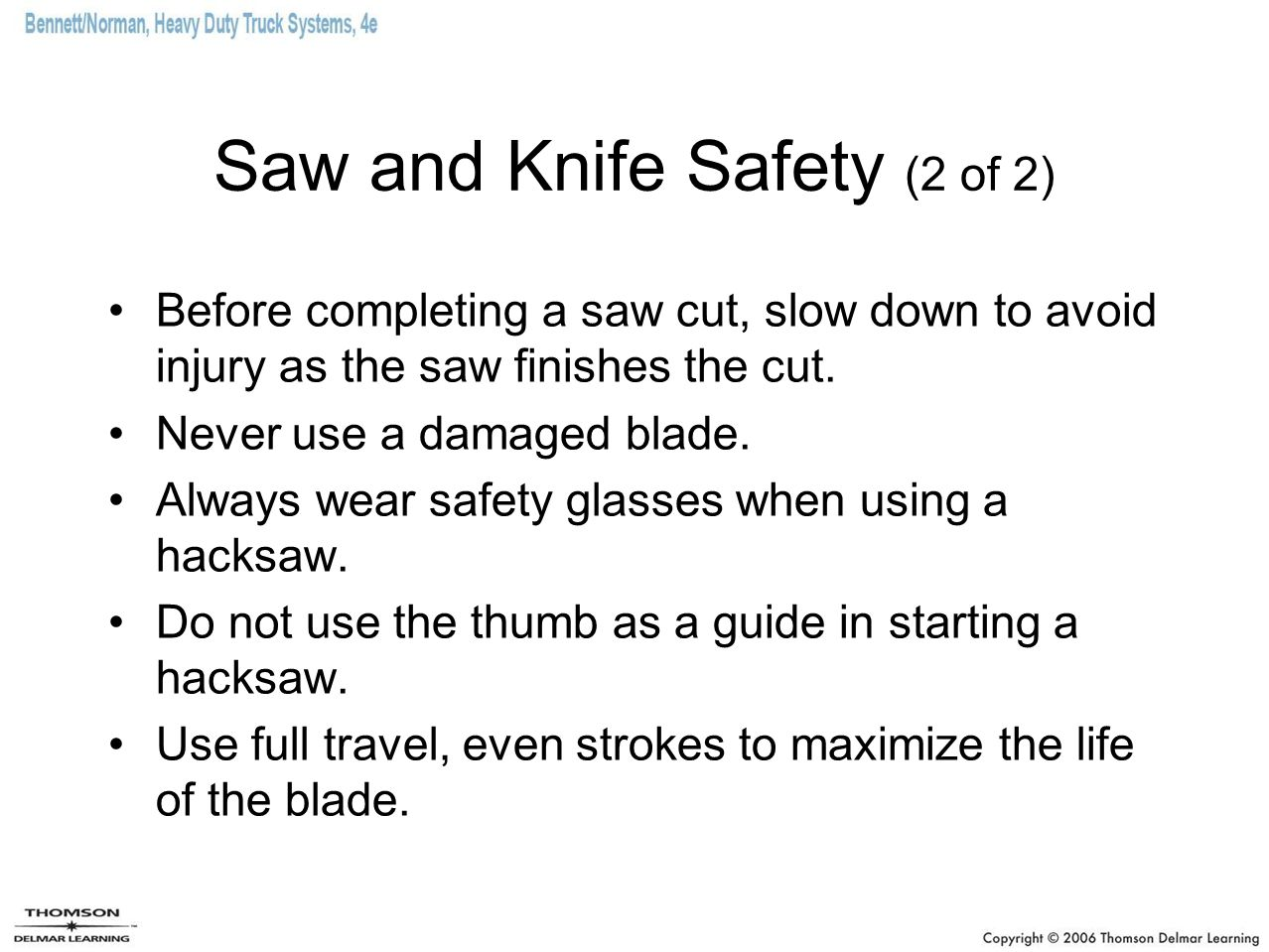 Saw and Knife Safety (2 of 2)