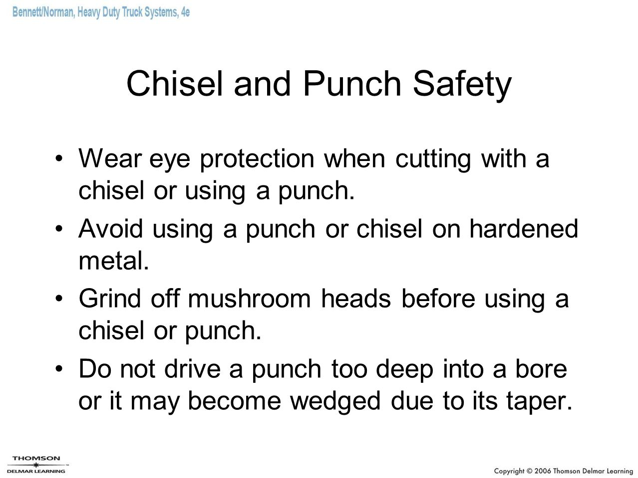 Chisel and Punch Safety