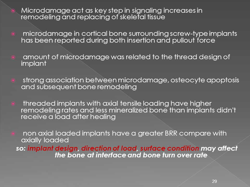Microdamage act as key step in signaling increases in remodeling and replacing of skeletal tissue