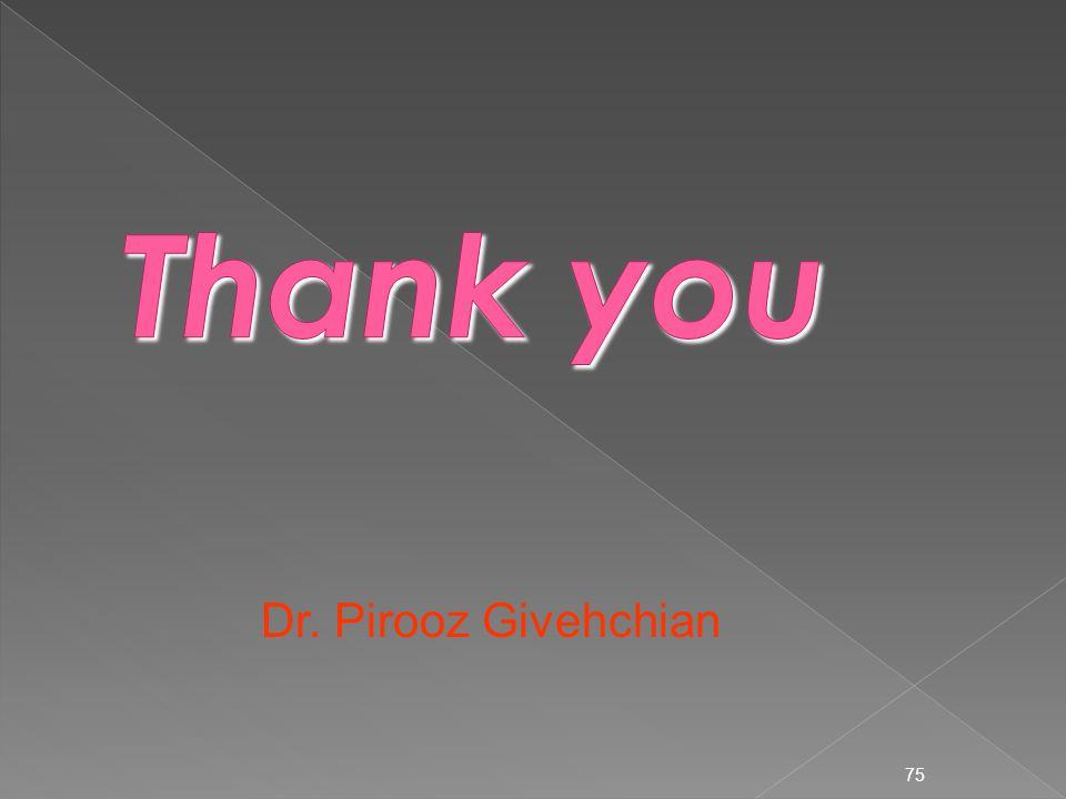 Thank you Dr. Pirooz Givehchian