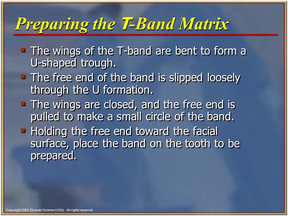 Preparing the T-Band Matrix