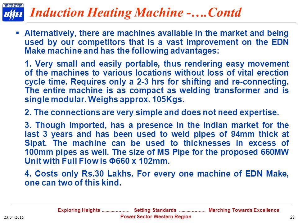 Induction Heating Machine -….Contd