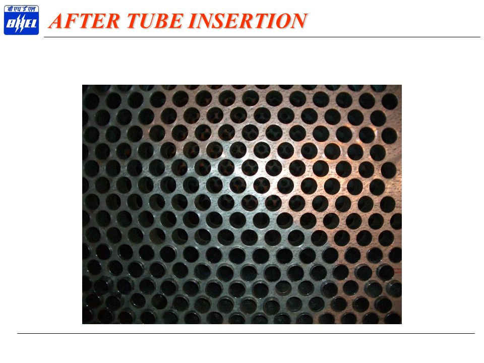AFTER TUBE INSERTION
