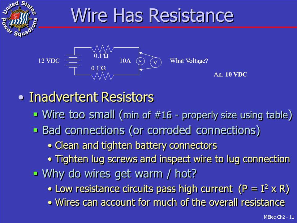 Wire Has Resistance Inadvertent Resistors
