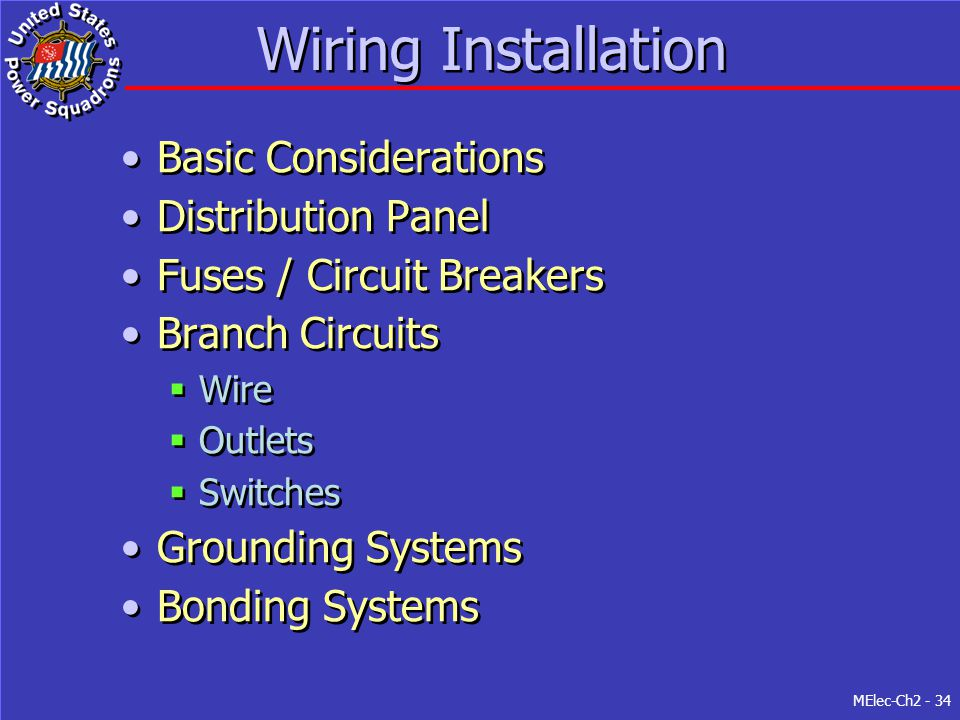 Wiring Installation Basic Considerations Distribution Panel