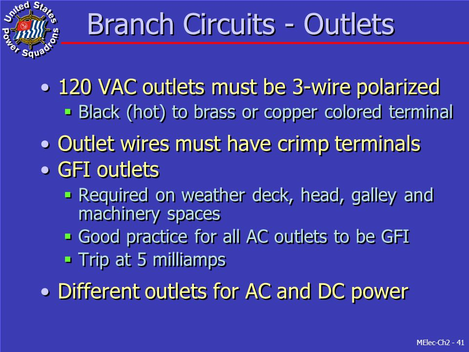 Branch Circuits - Outlets