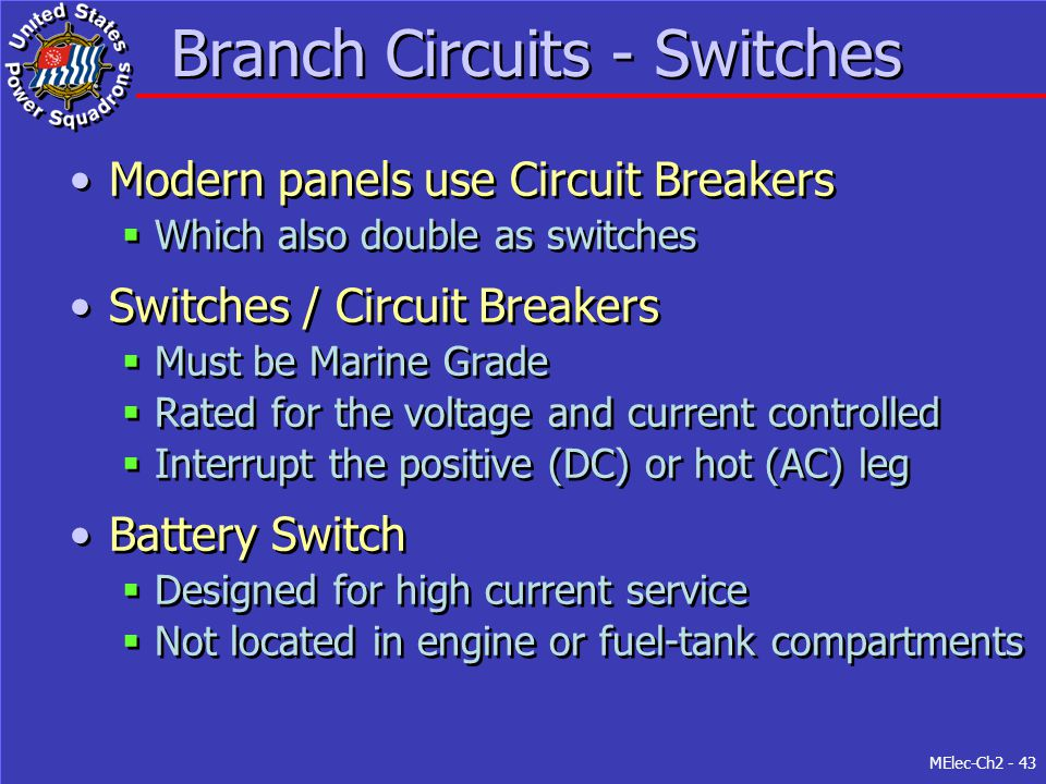 Branch Circuits - Switches