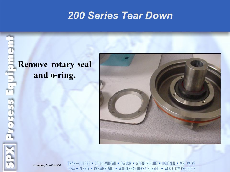 Remove rotary seal and o-ring.
