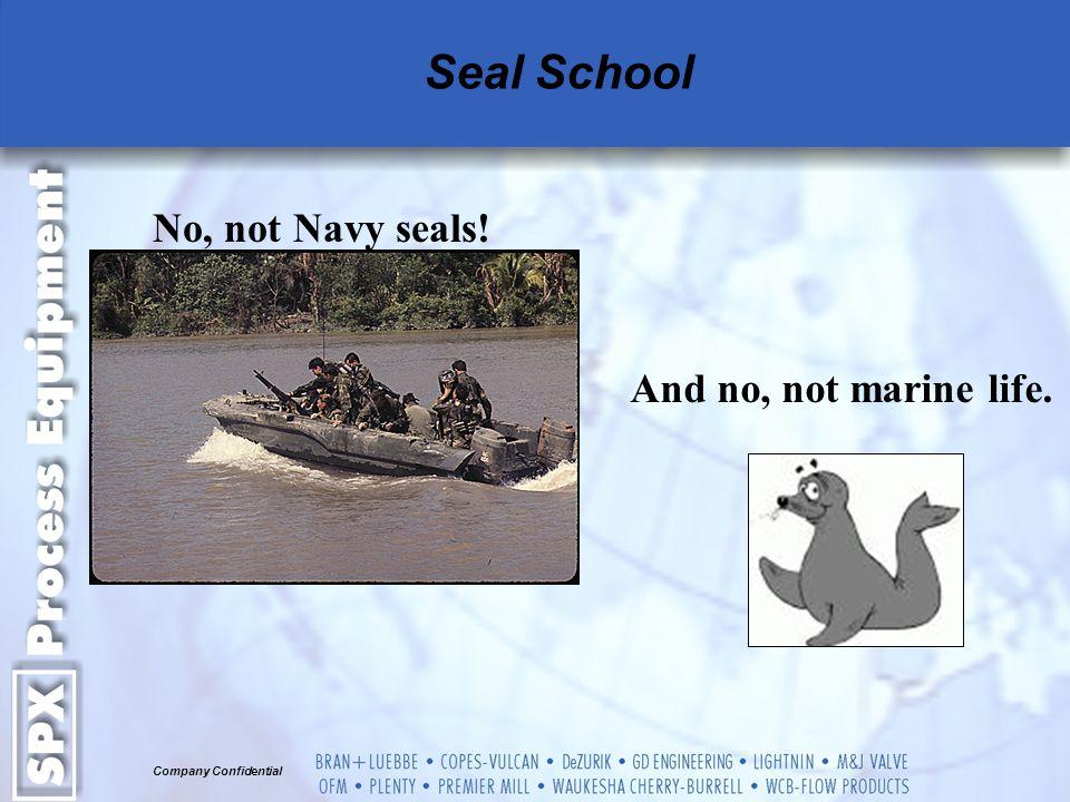 Seal School No, not Navy seals! And no, not marine life.