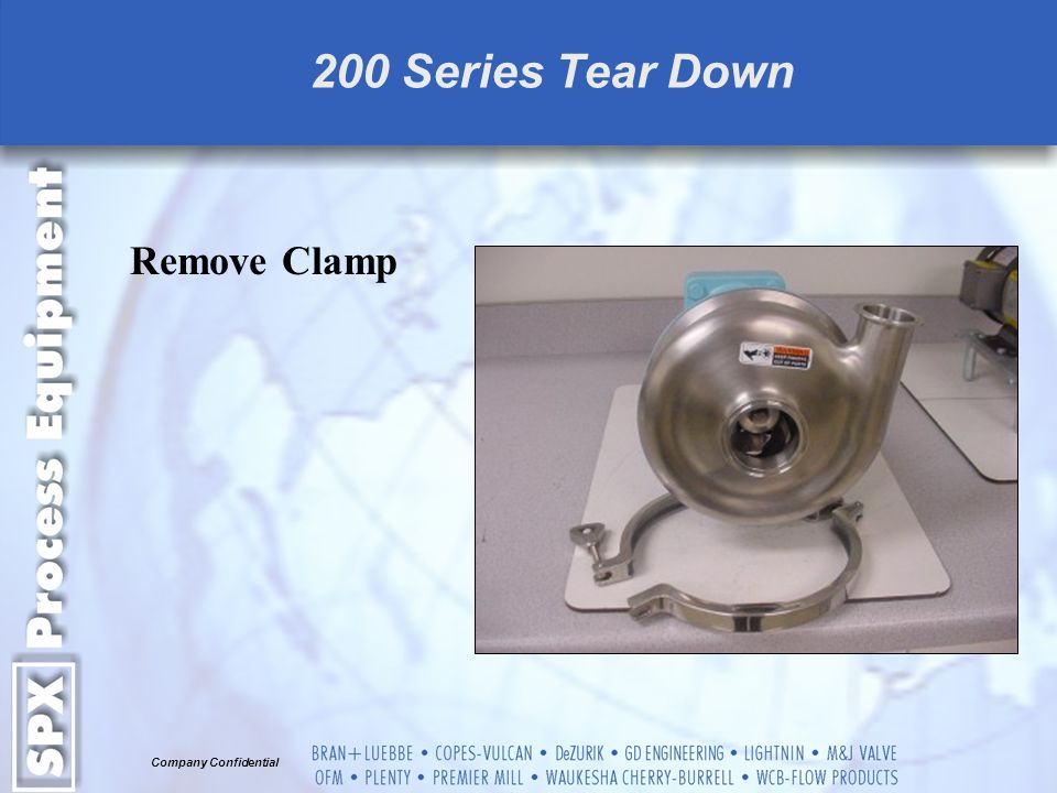 200 Series Tear Down Remove Clamp