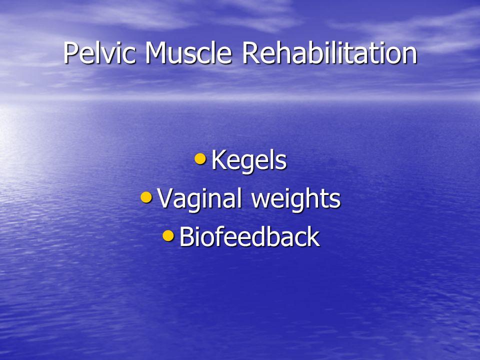Pelvic Muscle Rehabilitation