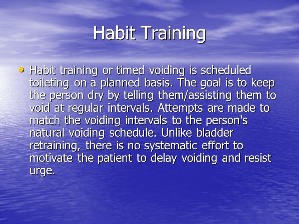 Habit Training