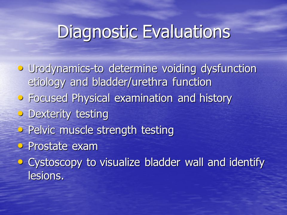 Diagnostic Evaluations