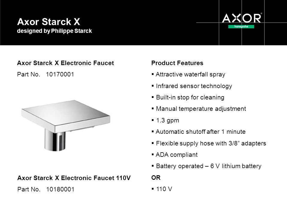 Axor Starck X designed by Philippe Starck