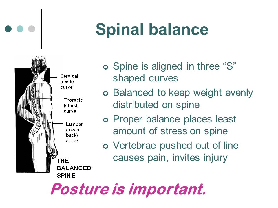 Spinal balance Posture is important.