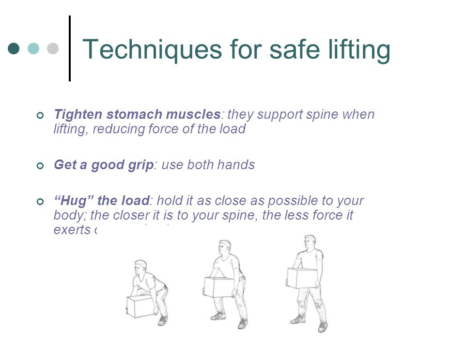 Techniques for safe lifting