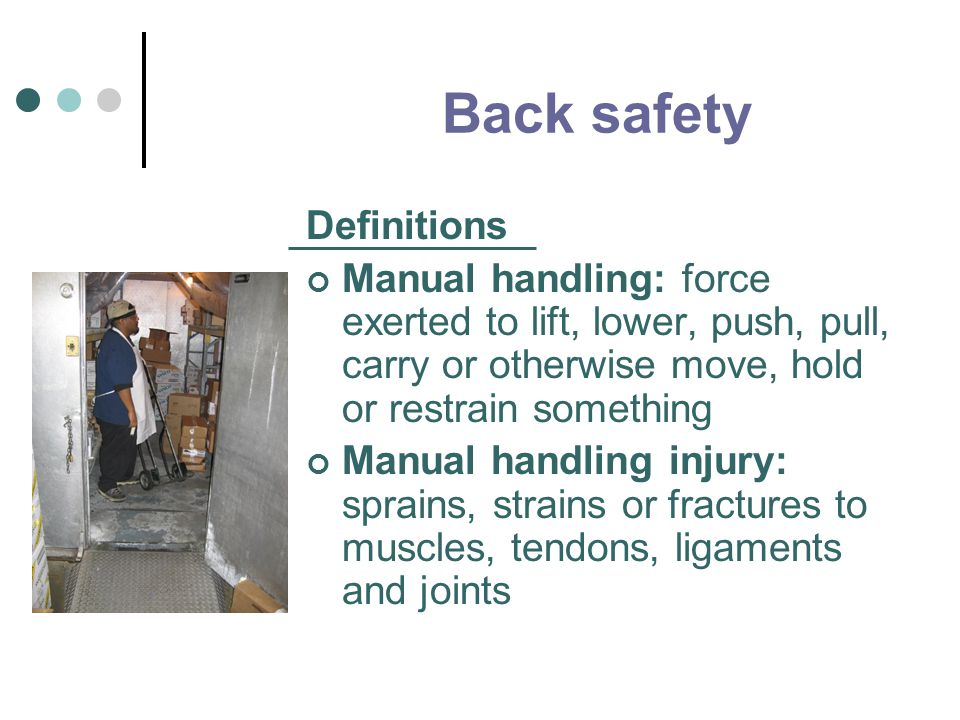 Back safety Definitions