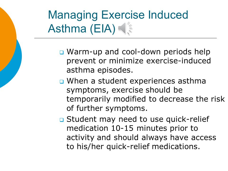 Managing Exercise Induced Asthma (EIA)