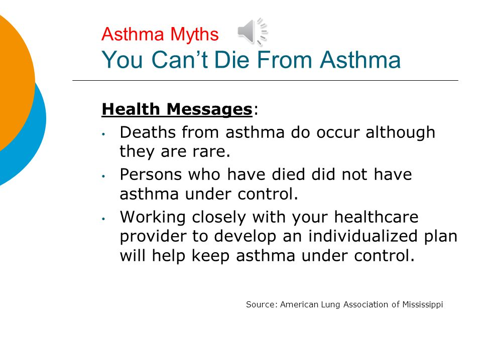 Asthma Myths You Can't Die From Asthma