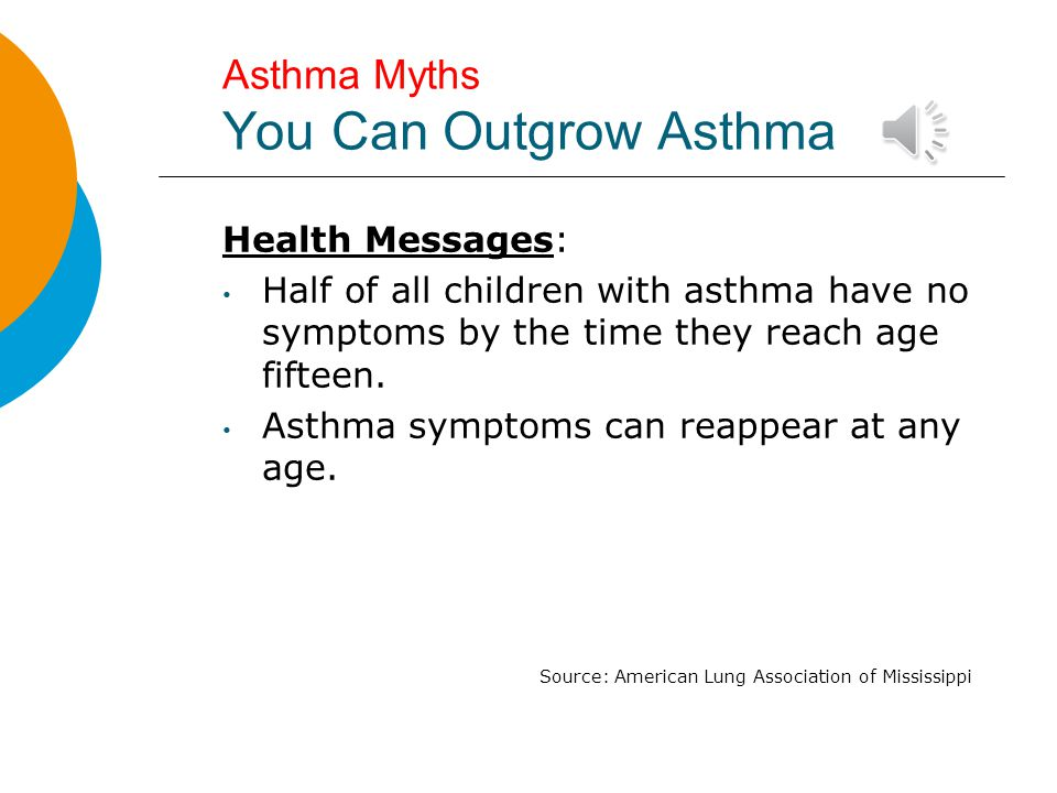 Asthma Myths You Can Outgrow Asthma